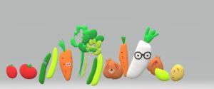 お茶目な野菜